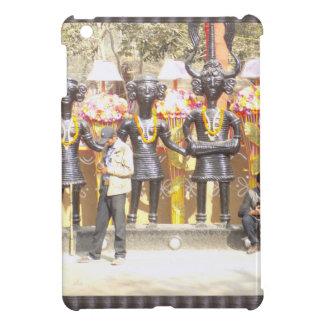 Kulturelle Showstatue Indiens der Musikerkünstler iPad Mini Hülle