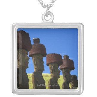 Kulturelle Statuen, Osterinsel, das Polynesien Versilberte Kette