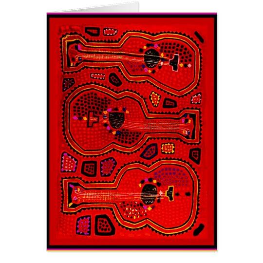 Kuna Inder-Gitarren Grußkarte