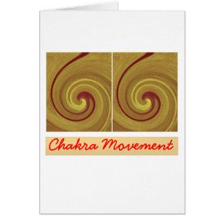 Kundalini, das Chakra Bewegung weckt Karte