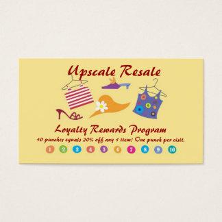 Kunden-Belohnungen Visitenkarte