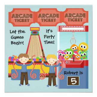 Kundengebundene Arcade-Geburtstags-Party Einladung