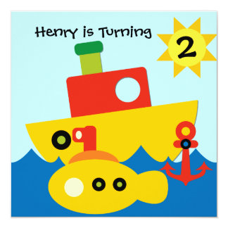 Kundengebundene Boots-Geburtstags-Einladung Karte