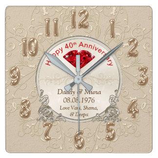 Kundengebundene Fortieth Hochzeitstag-Geschenk UHR