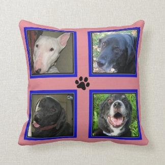 Kundengebundene Foto-Collage 4 - blaues Kissen