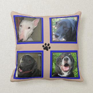 Kundengebundene Foto-Collagen 4 - blaues Kissen
