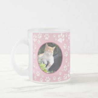 Kundengebundene Katzen-ErinnerungsTassen-Tatze Mattglastasse