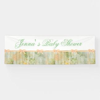 Kundengebundene rustikale BlumenWBaby Banner