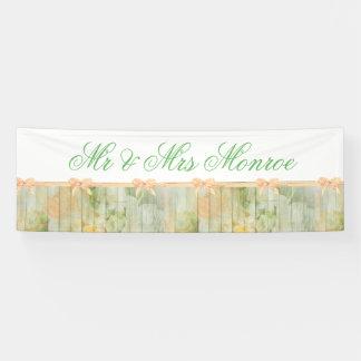 Kundengebundene rustikale hölzerne Hochzeits-mit Banner