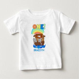 Kundengebundenen Noahs Arche-Baby-1. Geburtstags-T Baby T-shirt