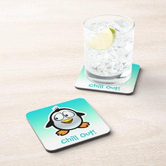 Kundengebundener cooler Penguin-Cartoon Untersetzer