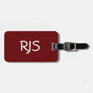 Kundengebundener Gepäckanhänger, Monogramm, Kofferanhänger