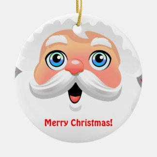 Kundengebundener niedlicher Weihnachtsmann-Cartoon Keramik Ornament