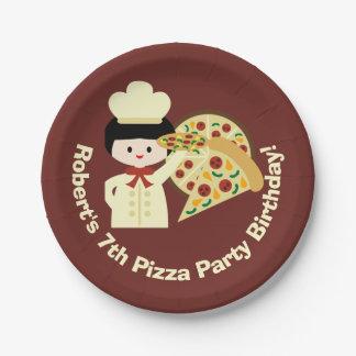 Kundengebundener Pizza-Party-alles- Gute zum Pappteller