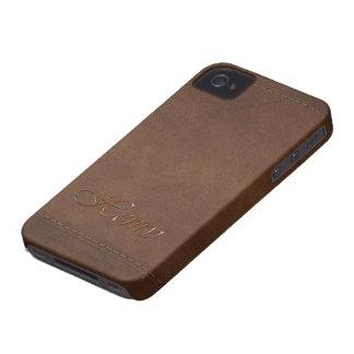 Kundengebundener Telefon-Kasten HENRYS Leder-Blick iPhone 4 Hülle