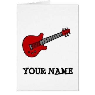 Kundengebundenes Gitarren-Shirt für Jungen oder Grußkarte