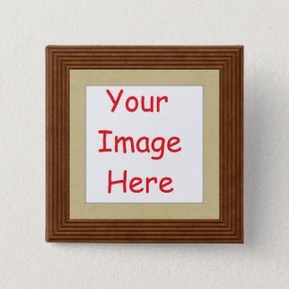 Kundengebundenes personalisiertes fügen Ihr Bild Quadratischer Button 5,1 Cm