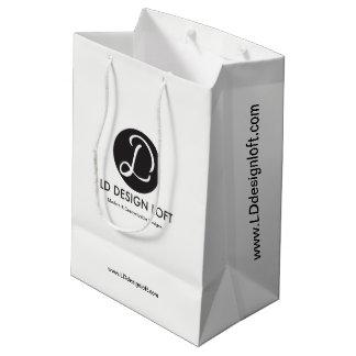 Kundengerecht mit Geschäfts-Firmenlogo, Mittlere Geschenktüte