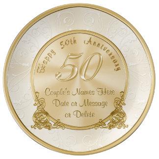 Kundengerechte 50. Hochzeitstag-Geschenke Teller Aus Porzellan