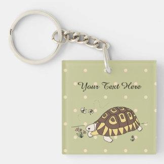 Kundengerechte Angulate Schildkröte Keychain (2 Schlüsselanhänger