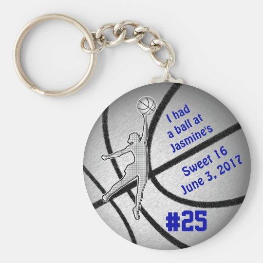 Kundengerechte Basketball-Gastgeschenke für Standard Runder Schlüsselanhänger