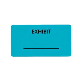 Kundengerechte blaue adressetiketten