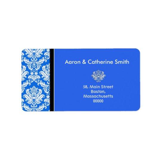 Kundengerechte blaue Damast-Adressen-Etiketten Adressaufkleber