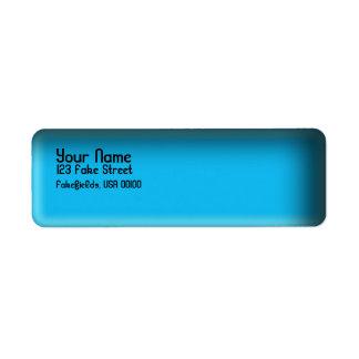 Kundengerechte blaue Teller-Rückkehr-Aufkleber Kleiner Adressaufkleber