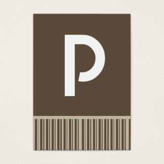 Kundengerechte Brown-Monogramm-Visitenkarten Visitenkarte