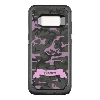 Kundengerechte Camouflage mit Rosa OtterBox Commuter Samsung Galaxy S8 Hülle
