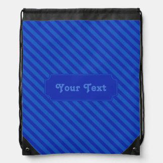Kundengerechte diagonale dunkle Kobalt blaue Sportbeutel