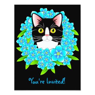 Kundengerechte die Einladungs-Miezekatze des 10,8 X 14 Cm Einladungskarte