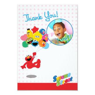 Kundengerechte Elmo und Kumpel-Ballone danken 8,9 X 12,7 Cm Einladungskarte