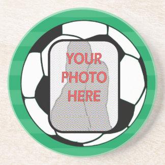 Kundengerechte Fotofußbalball Untersetzer