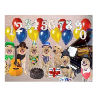 Kundengerechte Geburtstags-Einladung Postkarte