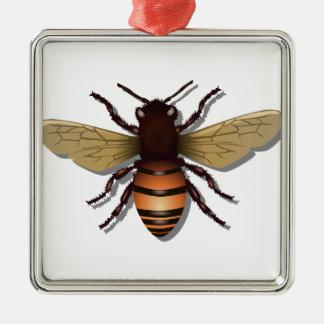 Kundengerechte gelbe Hummel-Biene Silbernes Ornament