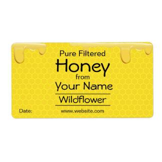 Kundengerechte Honig-Aufkleber-Bienenwabe addieren Versandetiketten