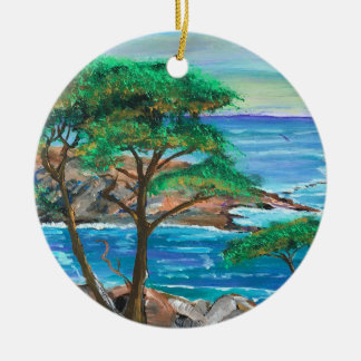 Kundengerechte Insel-Malerei-Verzierung Rundes Keramik Ornament