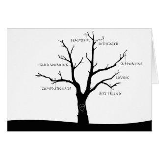 Kundengerechte Karte der Mutter Tages- Baum des