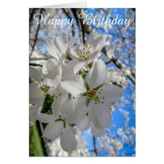 Kundengerechte Kirschblüten-Geburtstags-Karte Karte