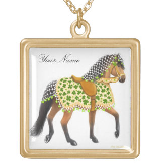 Kundengerechte Kleeblatt-Parade-Pferdehalskette Vergoldete Kette