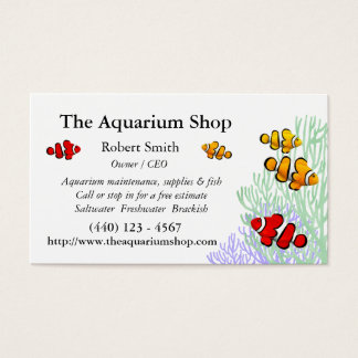 Kundengerechte Korallenriff Clownfish Visitenkarte