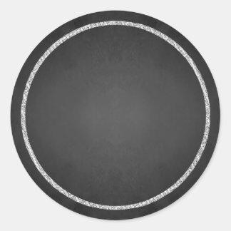 Kundengerechte leere Imitat-Tafel-Aufkleber Runder Aufkleber