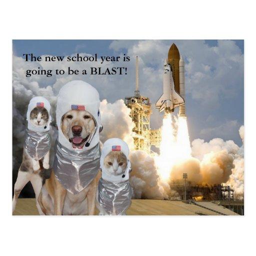 Kundengerechte Lehrer-Postkarte für neues Schuljah