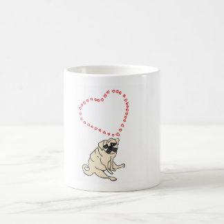 Kundengerechte Liebe-Mops-Kaffee-Tasse Kaffeetasse