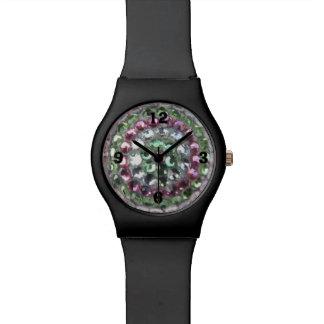 Kundengerechte mehrfarbige Rhinstone Armbanduhr