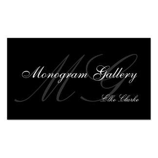 Kundengerechte Monogramm-Ebenen-Visitenkarte