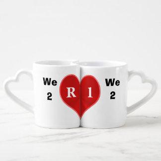 Kundengerechte Paar-Tassen, die zusammen passten Duo-Tassen