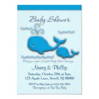 Kundengerechte Paar-Wal-Babyparty 11,4 X 15,9 Cm Einladungskarte