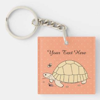Kundengerechte Ploughshare-Schildkröte Keychain Schlüsselanhänger